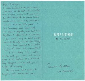 Birthday Card received from Pauline Battinson